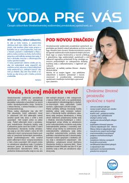 Zákaznícky časopis 2013 - Stredoslovenská vodárenská