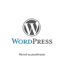 Navod na WordPress