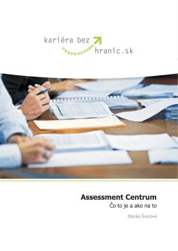 e-knižka odhaľujúca mystifikovanú tému Assessment Centier