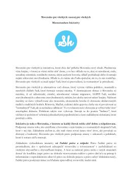 Slovensko pre všetkých: naozaj pre všetkých