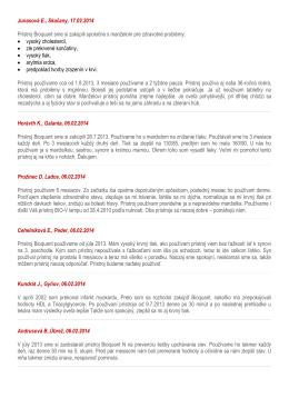 Junasová E., Skačany, 17.02.2014 Prístroj Bioquant sme si zakúpili