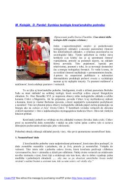 M. Koleják, D. Pardel: Syntéza teológie kresťanského pohrebu