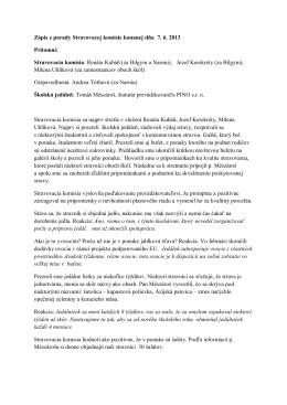 Stravovacia komisia: Renáta Kubáň (za Bilgym a Narn