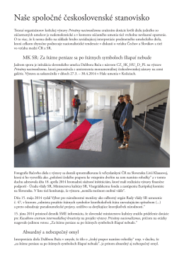 Naše spoločné československé stanovisko PDF