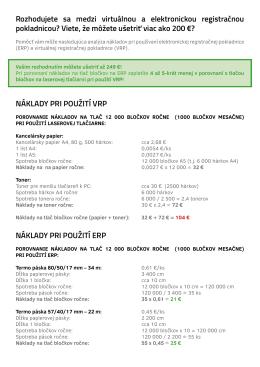 Porovnanie nákladov pri použití ERP a VRP TU