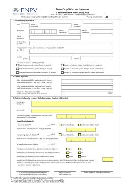 Žiadosť o pôžičku pre študentov v akademickom roku 2014/2015