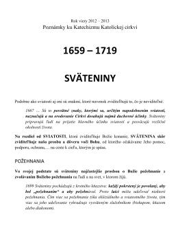 Body 1659 až 1719