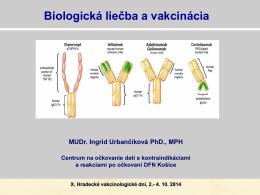 Biologická liečba a vakcinácia
