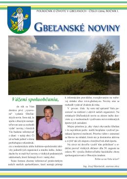 Gbeľanské noviny