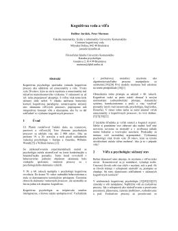 Kognitívna veda a vôľa (2014)