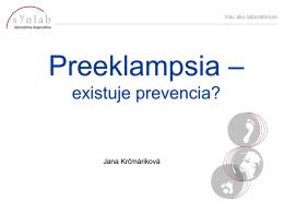 Jana Krčmáriková: Preeklampsia