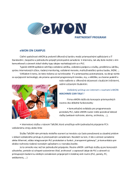 PARTNERSKÝ PROGRAM eWON ON CAMPUS