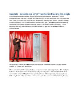Exadata - databázový stroj využívajúci Flash technológiu