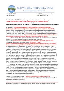 Slovenský rybársky zväz – MO, B.Nemcovej
