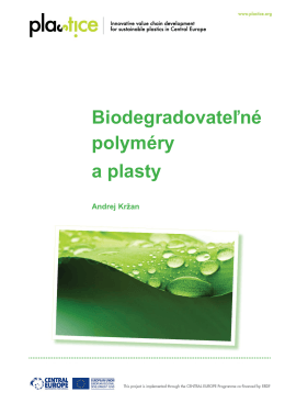 Biodegradovateľné polyméry a plasty