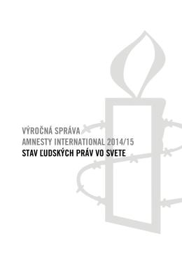 Výročná správa AI 2014 - Amnesty International Slovensko