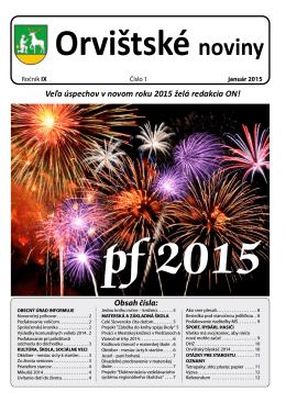 Orvištské noviny 01 2015