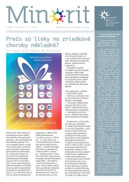 Minorit 4/2014 - Slovenská aliancia zriedkavých chorôb