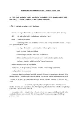 Pravidla OHL - DHZ Malý Slavkov