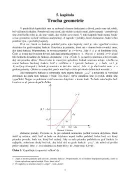 5. kapitola: Trocha geometrie