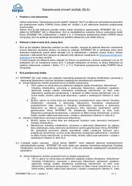 Garantovaná úroveň služieb (SLA)