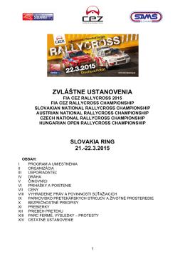 Zvláštne ustanovenia FIA CEZ Rallycross