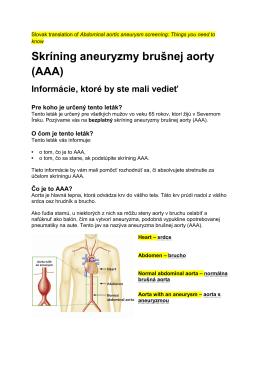 Skríning aneuryzmy brušnej aorty (AAA)