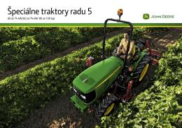 Katalóg špeciálnych traktorov John Deere rady 5 (pdf 9