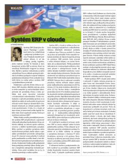 Systém ERP v cloude