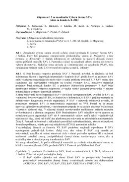 Výbor Snemu SAV č.05