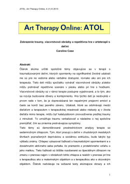 Art Therapy Online: ATOL - Goldsmiths Journals Online