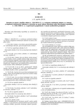 č. 84/2014 Z. z. - Úrad na ochranu osobných údajov