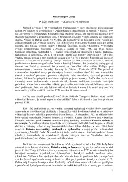 K. T. Delius - Prvý banícky spolok