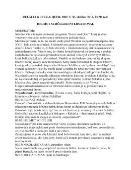 RELÁCIA KREUZ & QUER, ORF 2, 30. október - Pfarrer