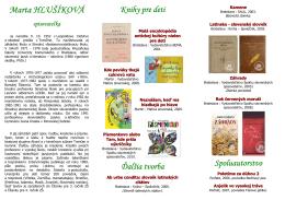 Marta HLUŠÍKOVÁ - Verejná knižnica Mikuláša Kováča Banská