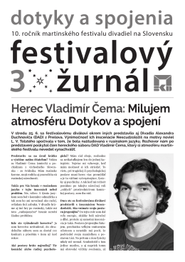 Festivalový žurnál No. 3