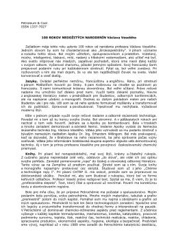 Petroleum & Coal ISSN 1337-7027 100 ROKOV