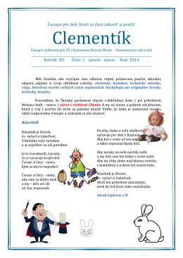 Clementík - Základná škola Clementisova, Kysucké Nové Mesto