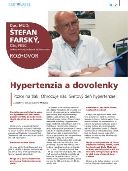 Časopis CESTOVATEĽ - Liga proti hypertenzii