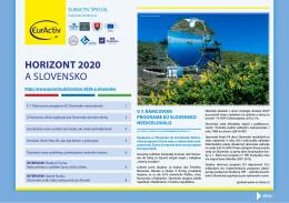 HoRiZont 2020 a SLoVENSko