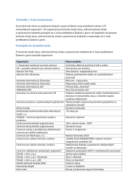 pdf, 633,8 kB Výsledky I. kola hodnotenia
