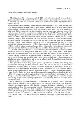 list poslancom - VK Chemes Humenné