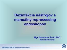 Dezinfekcia chirurgických nástrojov a manuálny