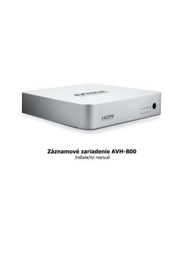 Záznamové zariadenie AVH-800