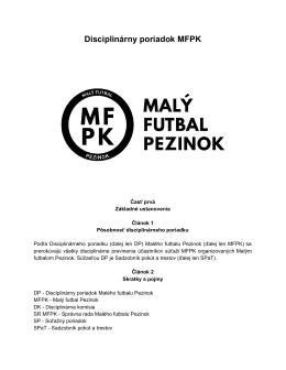 Disciplinárny poriadok MFPK