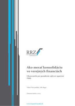 Ako merať konsolidáciu vo verejných financiách