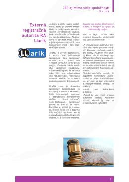 Externá registračná autorita RA Llarik