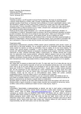 Kazaň, Tatarstan, Ruská federace Vědecká stáž IFMSA Jméno