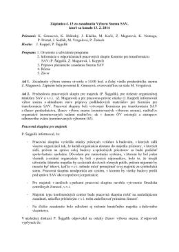 Výbor Snemu SAV č. 13