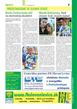 Kliknite sem - FK Slovan Levice